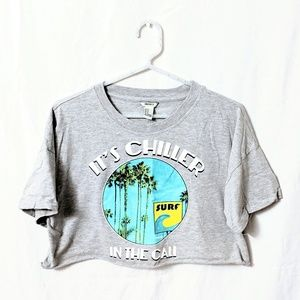 Forever 21 Cropped Cali Tee